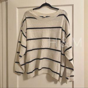 H&M // cream and black striped sweater